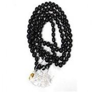 100% Original Lab Certified Natural Black Sulemani Hakik Mala By Jaipur gemstone
