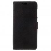 Huawei P8 Lite (2017) Textured Wallet Case - Black