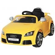 Original Licence Version AUDI TT RS PLUS Ride on kids car 12v by TOYS & MOTORADES (Yellow)