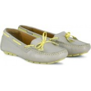 Clarks Dunbar Racer Women Loafers For Women(Grey, Yellow)