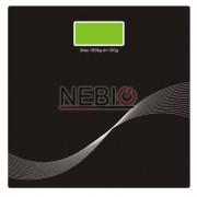 Cantar electronic Victronic, 180 kg, Platforma de sticla, Negru