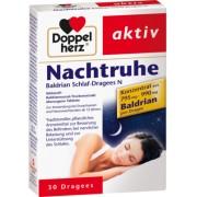 Queisser Pharma GmbH & Co. KG DOPPELHERZ Nachtruhe Baldrian Schlaf-Dragees N 30 St