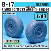 DEF Model 1:48 B-17F/G Flying Fortress Wheel set 1 (for Revell 1/48) #DS48003
