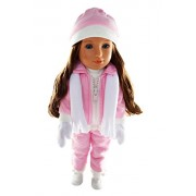 My Brittany's Pink Snowsuit for Wellie Wisher Dolls,Glitter Girls and Hearts for Hearts- 14 Inch Doll Clothes