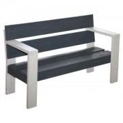 SenS-Line Country 2-zits houten tuinbank wit/grijs