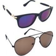 Fash-On India Aviator Sunglasses(Multicolor, Brown)