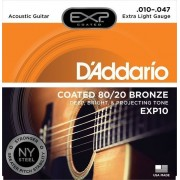 D'Addario EXP10 Coated 80/20 Bronze Extra Light 10-47