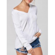 rosegal Casual V-neck Knit Sweater