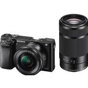 Sony a6000 ILCE-6000Y - Digitale camera - spiegelloos - 24.3 MP - APS-C - 3x optische zoom 16-50mm en 55-210mm lenzen - Wi-Fi, NFC