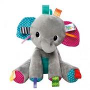 Bright Starts Tag'n Play Pals Gray Elephant Taggies