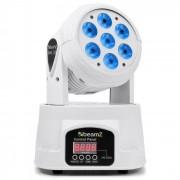 Beamz MHL-74 Cabeza móvil Mini Wash 7X10W 12 canales DMX RGBW Blanco (Sky-150.519)