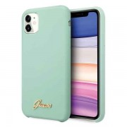 Husa Guess iPhone 11 Pro Max hard case Silicone Vintage Gold Logo Verde