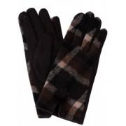 Дамски ръкавици Каре - кафяви