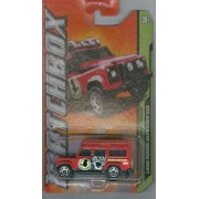 Matchbox 2012 104 Mbx Jungle Land Rover Defender 110 Red 1:64 Scale