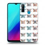 Átlátszó szilikon tok az alábbi mobiltelefonokra Realme C3 - Butterflies