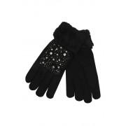 Gloves Lady dámské rukavice s kamínky černá