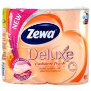 Zewa Deluxe Cashmere Peach, Hartie igienica 3 Straturi, 4 Role