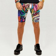 GraffitiBeasts Does - Heren sportbroek met graffiti design - Multicolor - Size: Extra Large