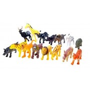 Sensory4U Mini African Safari Jungle Animals Play Set, Assorted Creatures, 30 Ct (2 Sets of 15)- Kids Miniature Party Favors,Bag Stuffer, Pinata Filler,, Prize, Educational Counting & Sensory Toy