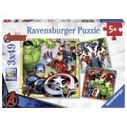 PUZZLE MARVEL AVENGERS 3X49 PIESE - RAVENSBURGER (RVSPC08040)