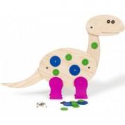 Dinozaur de construit Buitenspeel, lemn natur si colorat