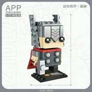Generic Super Hero Captain America Mini Block Movie Building Blocks Action Figure DIY Construction Bricks Birthday Gift Toy Brinquedos 1423nobox