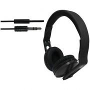ha wired abs HWKC540 headphone Black
