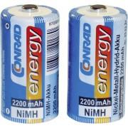 Set 2 acumulatori C NiMH, 1,2 V, 2200 mAh, Conrad energy