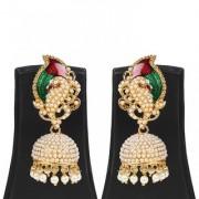 Jewels Gold Party Wear Wedding Traditional Stone Stylish Designer Fancy Jhumki Earring Set For Women Girls