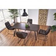 Firmino Étkezőasztal sötét dió/grafit 180x76cm