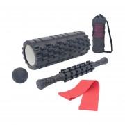 Set foam roller 33 Cm + Balón masaje + Stick espalda + Banda