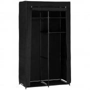 [neu.holz]® Ruhásszekrény textil mobil gardrób Rosenheim 160 x 90 cm tároló szekrény fekete