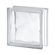 Caramida din sticla nor alba 19x19x8 cm