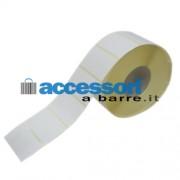 Etichette adesive in carta Vellum 50 x 30 mm per stampanti Desktop a trasferimento termico (ribbon necessario)
