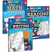 180 Days of Reading, Writing and Math for Fourth Grade 3-Book Set, Hardcover/Teacher Created Materials