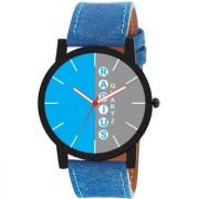 Radius Quartz Two Layer Blue Grey Analog Round Dial Men's Watch