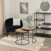 Emako Závěsné zrcadlo v kovovém rámu zavěšené na laně, elegantní ozdoba do obývacího pokoje, průměr 37 cm