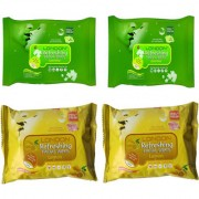 BELLA HARARO LONDON Refreshing FACIAL WET WIPES Pack of 4 25 wipes per pack