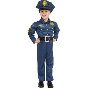 Rubies Costume Child's Top Cop Costume, X-Small, Multicolor
