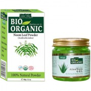 Aloe Vera Gel For Face Prevent Premature ageing And Neem Powder Promotes Hair Growth Combo Set Of 2