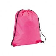 Geen Neon roze gymtas met rijgkoord