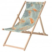 Madison Cadeira de praia madeira Dotan azul e laranja