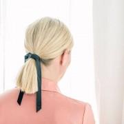 Svenskt läder by Anna Svensktläder by Anna - Hårsnodd Johanna svart