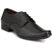 Knoos Men Black Lace-Up Formal Shoes