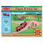 Дървена влакова композиция от 22 части, 10703 Melissa and Doug, 000772107037