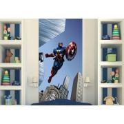 Fototapet Disney Capitan America Avengers - 90x202 cm (pe comanda 2 sapt)