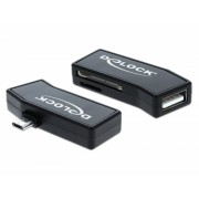 Cititor de carduri micro USB 2.0 OTG + USB tip A M, Delock 91730