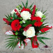 """Aranjament floral """"Red & White"""""""