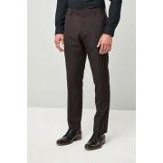 Next Slim Fit Check Shawl Tuxedo Suit: Trouser - Burgundy - Mens Trousers