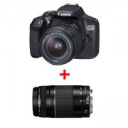 Огледално-рефлексен фотоапарат Canon EOS 1300D + EF-s 18-55 mm DC III + Обектив CANON LENS EF 75-300 MM F/4.0-5.6 III